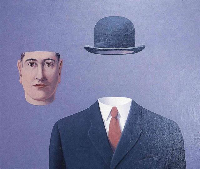 """El peregrino"" (1966), óleo de René Magritte (fragmento)"