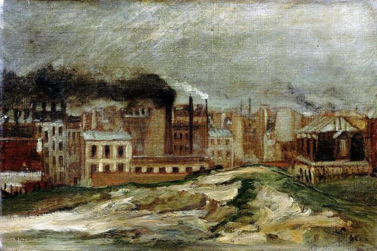 """""""Paysages d'usines"""" (1923), óleo de Théophile Alexandre Steinlen"""