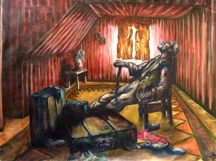 """Old Man in Chair"" (1998). Paul Tiberio"