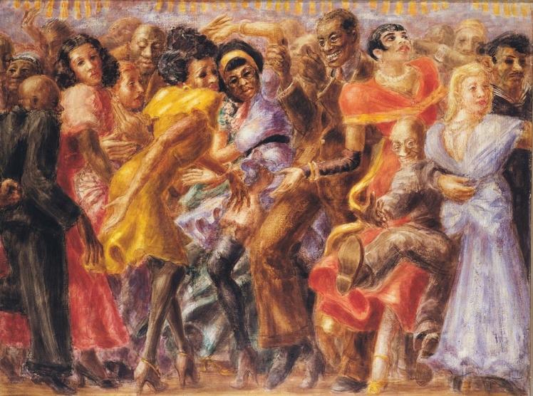 Harlem, Tuesday Night at the Savoy (1936), lienzo de Reginald Marsh