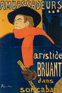Cartel de Toulouse-Lautrec con Aristide Bruant (1892).