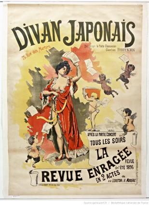 Afiche publicitario del Divan Japonais.