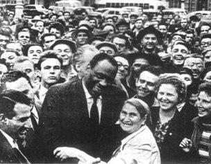 Paul Robeson en Moscú (1949).