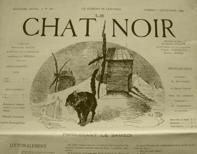 Una de las portadas de la revista Chat Noir
