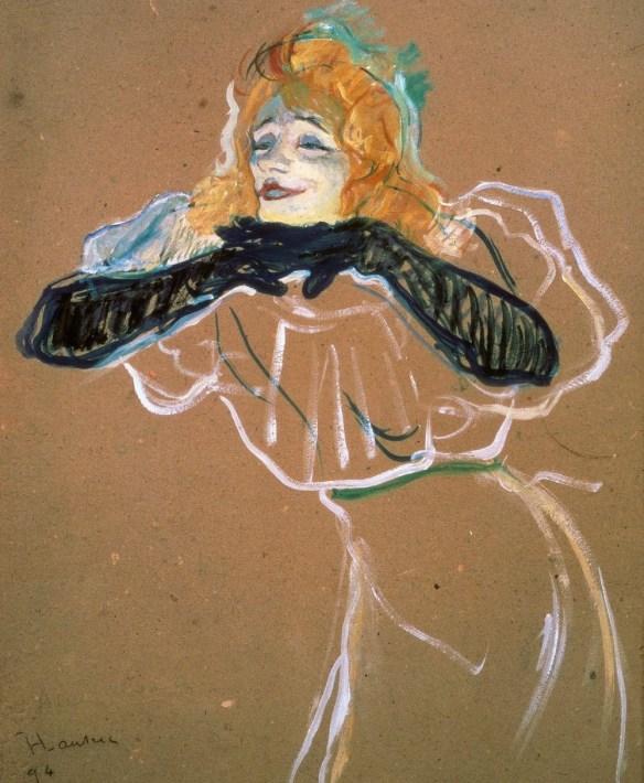 Yvette Guilbert por Toulouse-Lautrec en 1894