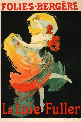 Loïe Fuller en el Follies (1893). Jules Cheret.