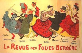 Cartel del Folies-Bergère (c. 1900) con algunas de las principales estrellas que allí actuaban.