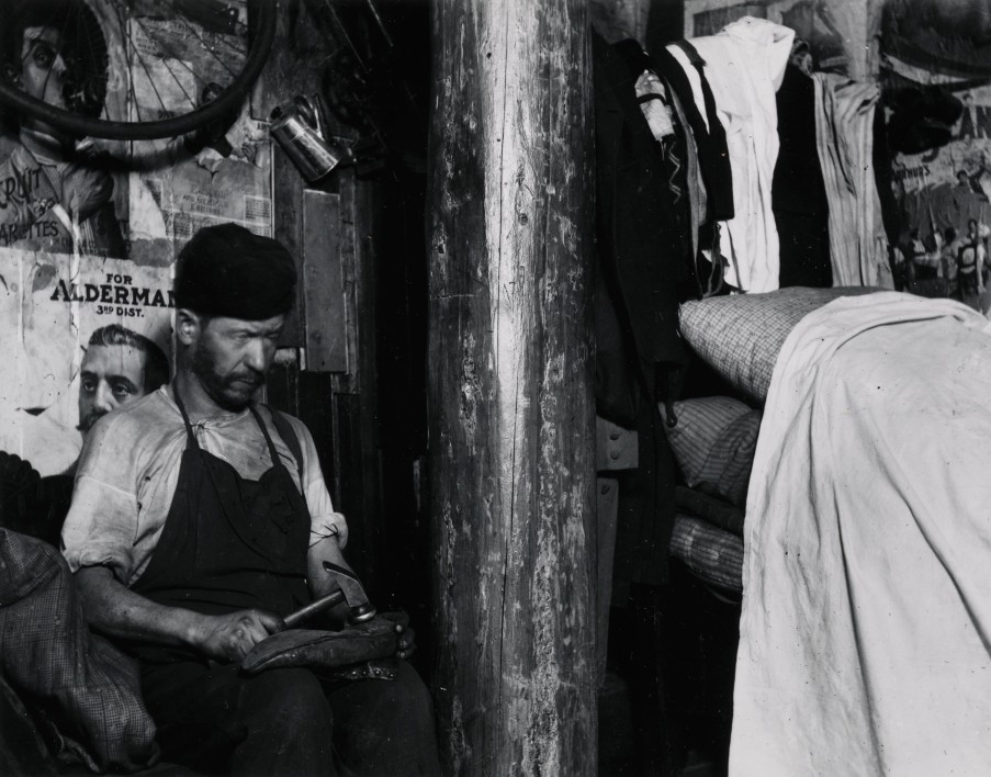 Shoemaker Working in a house in the Yard of 219 Broome Street
