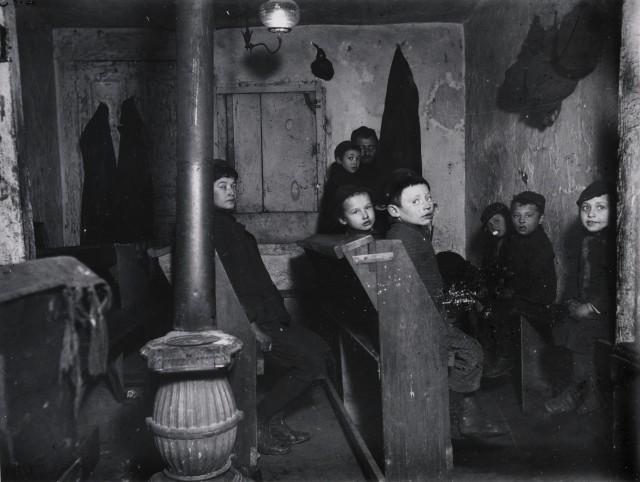 Talmud School in Hester Street. Via Preus Museum