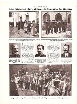 """Los crímenes de Cullera. El Consejo de Guerra"""" / Mundo Gráfico año I, núm. 2, 8 de noviembre de 1911."""