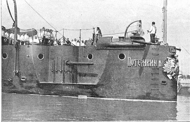 La popa del acorazado en 1905